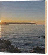 English Bay Sunset Wood Print
