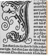 English Bible, 1535 Wood Print