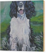 english Springer spaniel Wood Print