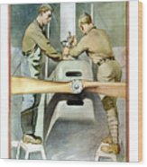 Mechanical Training - Enlist In The Air Service Wood Print