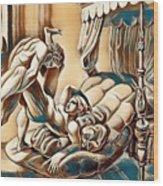 Erotic Abstract Three Wood Print