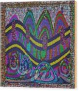 Ethnic Wedding Decorations Abstract Usring Fabrics Ribbons Graphic Elements Wood Print