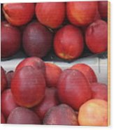 European Markets - Nectarines Wood Print