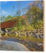 Everett Covered Bridge  Wood Print