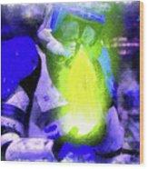 Execute Order 66 Blue Team Commander - Cartoonized Style Wood Print