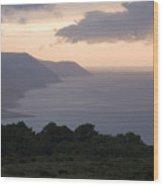 Exmoor Coast At Sunset Wood Print
