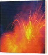 Exploding Lava Wood Print by Greg Vaughn - Printscapes