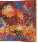 Explosions Of Light Wood Print