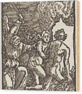 Expulsion From Paradise Wood Print