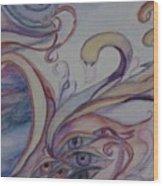 Eye Of The Swan Wood Print