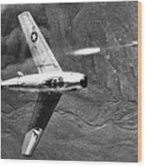 F-86 Jet Fighter Plane Wood Print by Granger