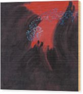 Fac7-volcano Wood Print