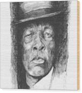 Face Of The Blues - John Lee Hooker Wood Print