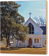 Fairhope Sacred Heart Church Wood Print