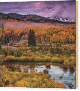 Fall Along Kebler Wood Print