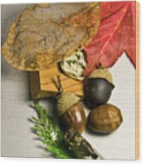 Fall Arrangement Wood Print