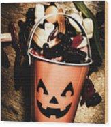 Fall Of Halloween Wood Print