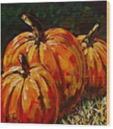 Fall Whisper Wood Print by Vickie Warner