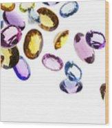 Falling Gems Wood Print by Setsiri Silapasuwanchai