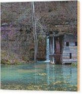 Falling Spring Mill Wood Print