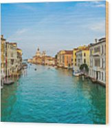 Famous Canal Grande In Venice Wood Print