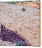 famous Mesa Arch in Canyonlands National Park Utah  USA Wood Print