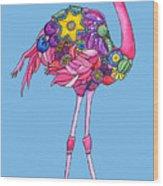 Fancy Felicity Flamingo Wood Print