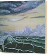 Fantasy Seascape Wood Print