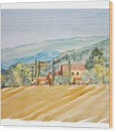 Farm In Provence Wood Print