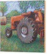 Farm Relic Wood Print