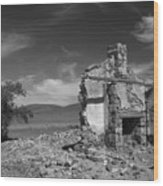Farmhouse Cottage Ruin Flinders Ranges South Australia Wood Print
