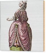 Fashion: French, 1778 Wood Print