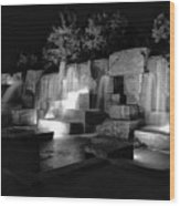 Fdr Memorial Water Wall Wood Print