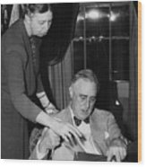 Fdr Presidency. First Lady Eleanor Wood Print by Everett