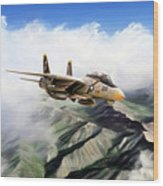 Fear The Bones F-14 Wood Print