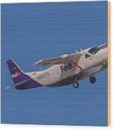 Fedex Airplane Wood Print