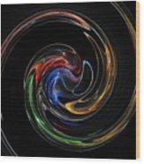 Feel Happy-colorful Digital Art That Can Enhance Your Mood Wood Print
