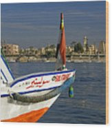Felucca On The Nile Wood Print