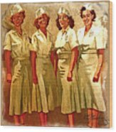 Female Security Guards Wood Print