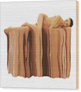 Liquid Nude Wood Print
