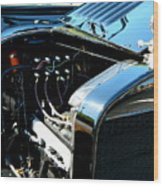 Female View At A Car Show Wood Print