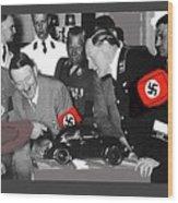Ferdinand Porsche Showing The Prototype Of The Vw Beetle To Adolf Hitler 1935-2015 Wood Print