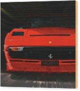 Ferrari 208 Gtb Turbo. Wood Print