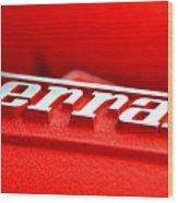 Ferrari Intake Wood Print