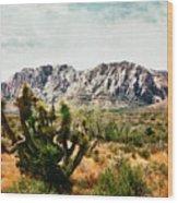 Field Yucca Wood Print