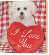 Fifi Loves You Wood Print