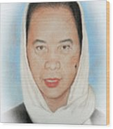 Filipina Woman Wearing A Scarf Wood Print