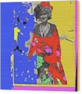 Film Homage Ann-margret Collage Train Robbers 1973 The Great White Hope Globe Arizona 1969 Wood Print