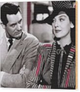 Film Homage Cary Grant Rosalind Russell Howard Hawks His Girl Friday 1940-2008 Wood Print