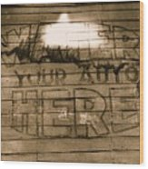 Film Homage Gregg Toland John Ford Henry Fonda The Grapes Of Wrath 2 1940 Ft. Steele Wy 1971-2008 Wood Print